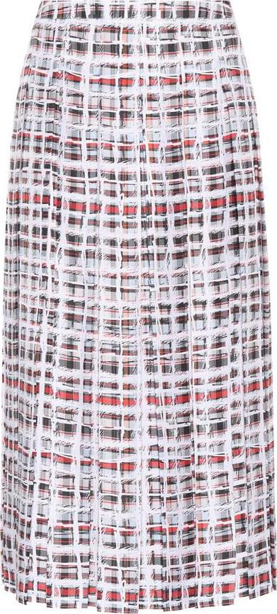 Burberry London England Scribble Check silk midi skirt