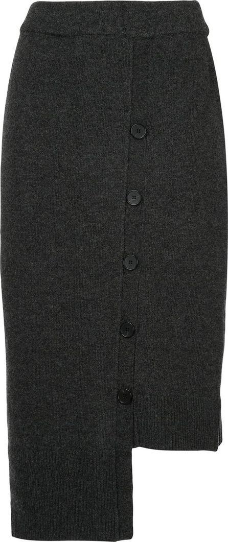 GOEN.J asymmetric buttoned skirt