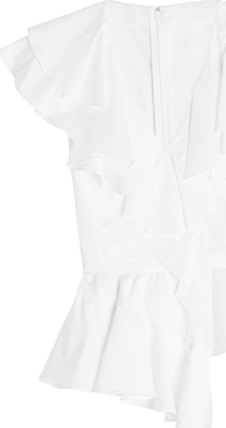 Alexander McQueen Cotton Blouse with Ruffles