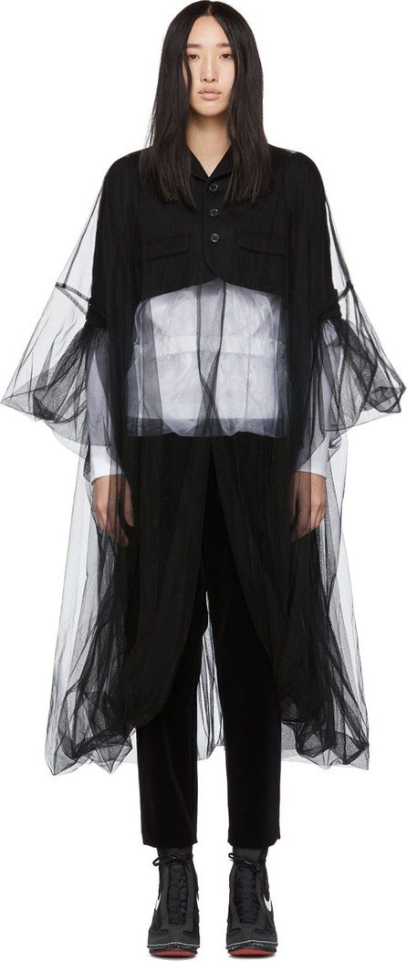 Noir Kei Ninomiya Black Short Tulle Blazer