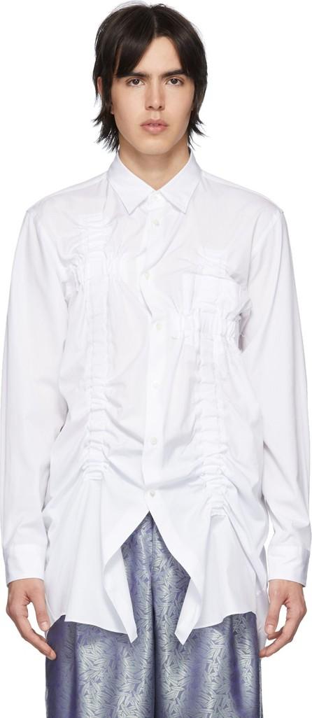 Comme Des Garçons Homme Plus White Bunched-Up Shirt