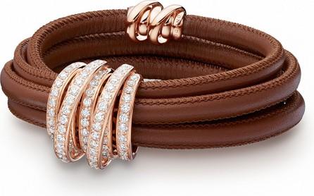 de GRISOGONO Allegra 18k Rose Gold & Leather Bracelet w/ Diamonds