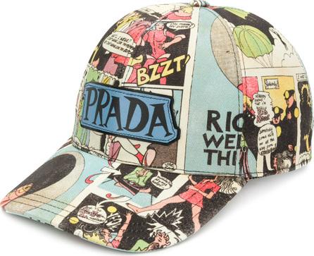 Prada Cartoon print cotton cap