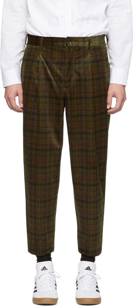 Comme des Garçons Homme Deux Khaki Check Trousers