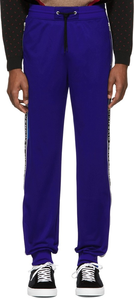 Givenchy Blue Reflective Bands Jogger Lounge Pants