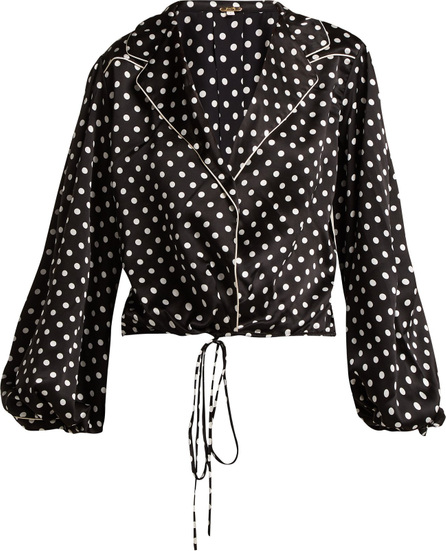Johanna Ortiz Let's Dip balloon-sleeve silk blouse