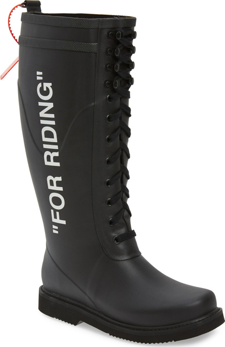 Off White For Riding Lace Up Boot
