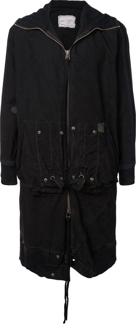 Greg Lauren Hooded mid-length jacket
