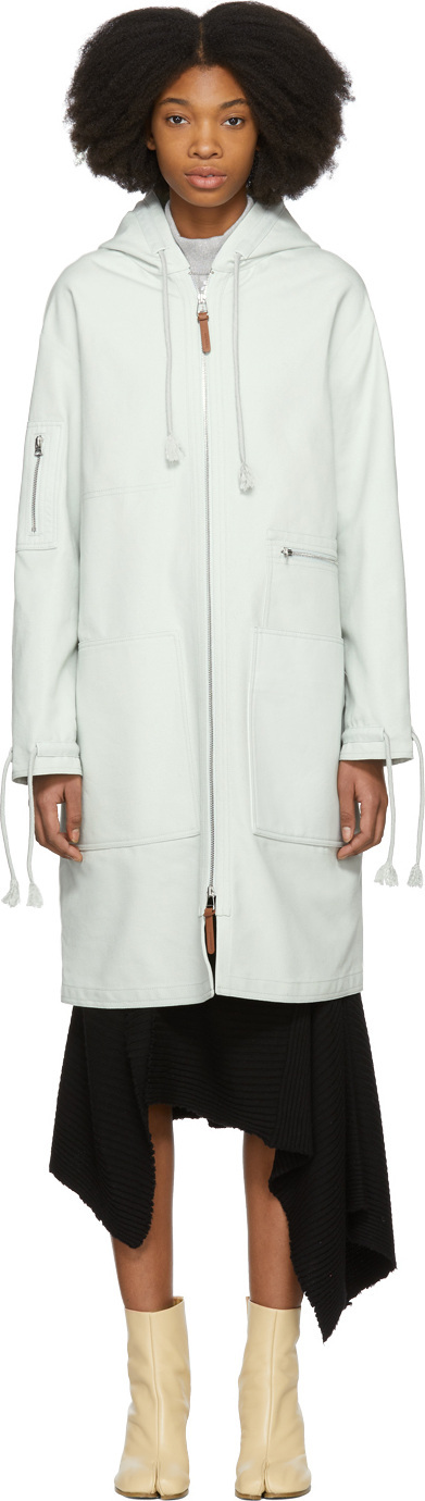 Acne Studios Blue April Heavy Cotton Coat
