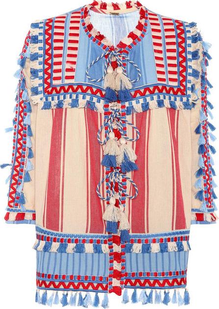 DODO BAR OR Tasselled cotton gauze blouse