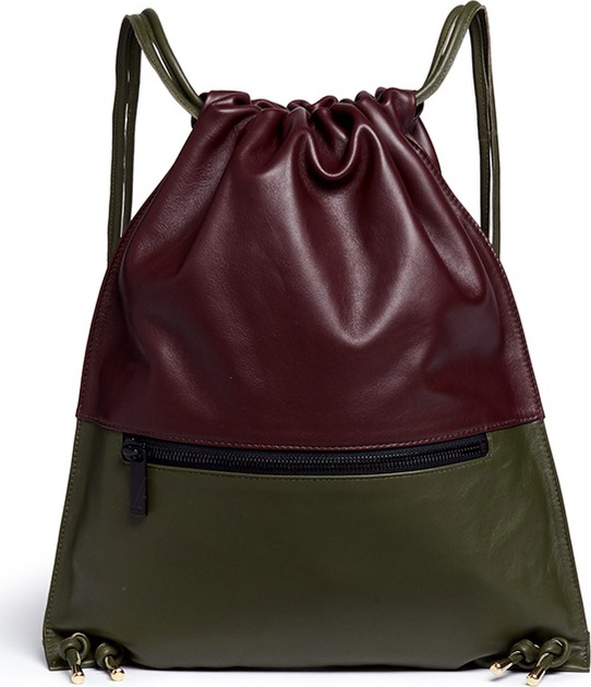 A-Esque - 'Draw Pack 03' colourblock leather backpack
