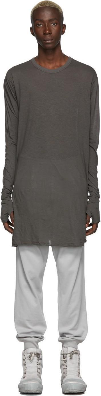 Boris Bidjan Saberi Grey Dyed Long Sleeve T-Shirt
