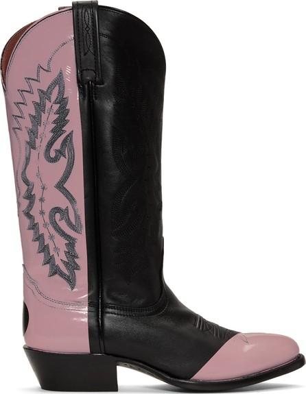 Helmut Lang Black & Pink Sarah Morris Edition Cowboy Boots