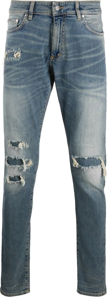 Represent Slim-fit distressed effect jeans