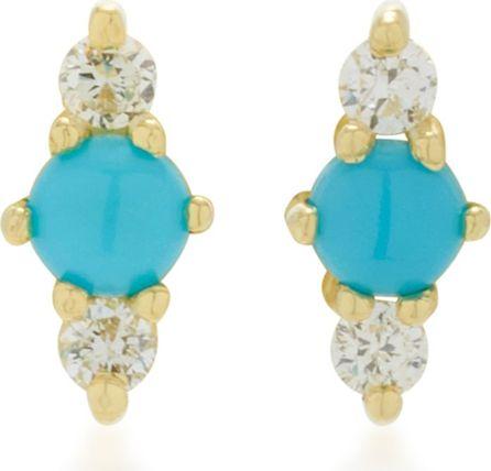 ILA Hanley 14K Gold Turquoise and Diamond Earrings