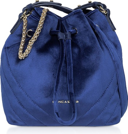 Lancaster Quilted Velvet Couture Small Bucket Bag