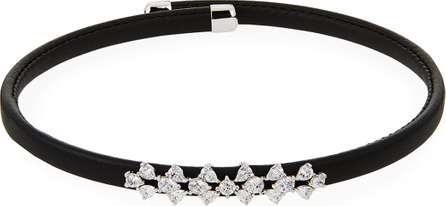 Fallon Monarch Leather Snap Choker Necklace