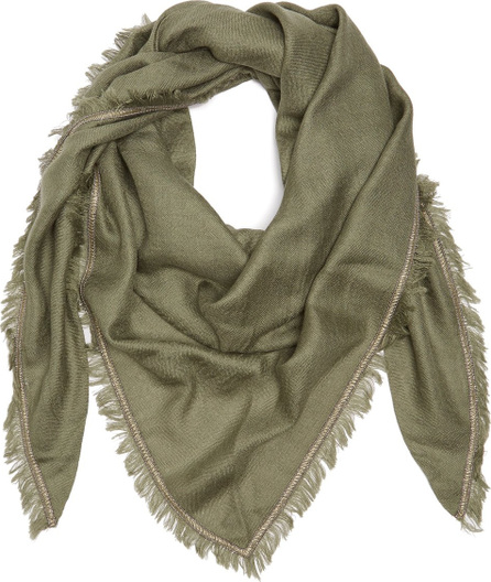 Brunello Cucinelli Embellished cashmere and silk-blend scarf