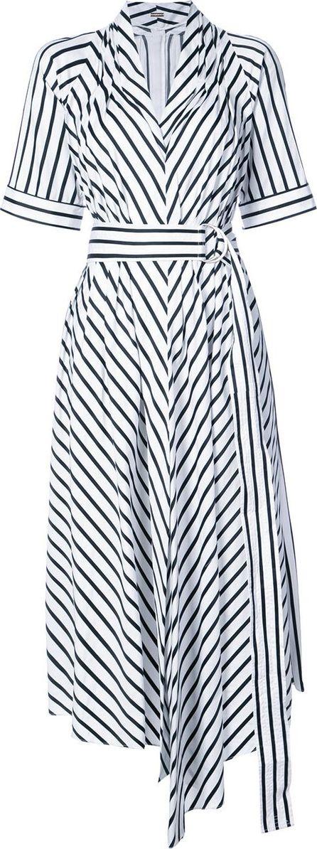 Adam Lippes asymmetric stripe dress
