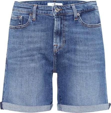7 For All Mankind Boy high-rise denim shorts