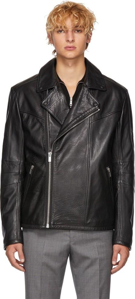 HUGO Black Leather Lanster Jacket