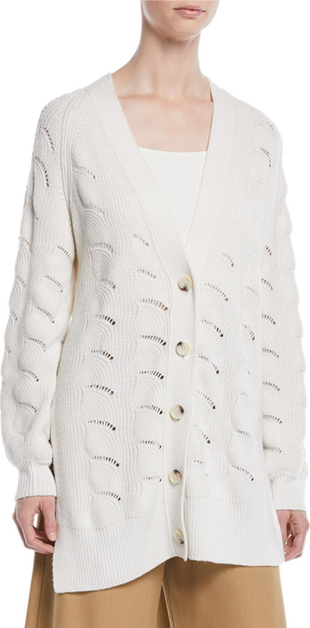 See By Chloé Side-Slit Button-Front Cardigan