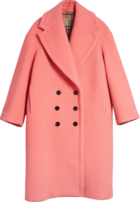 Burberry London England Double-faced Wool Cashmere Cocoon Coat
