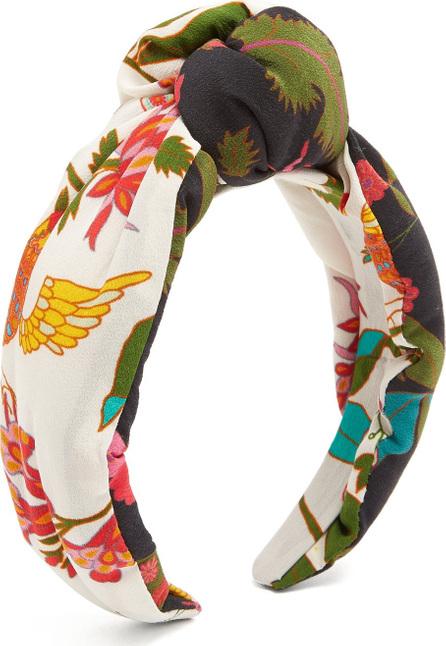 FIGUE Loulou Paradise-print headband