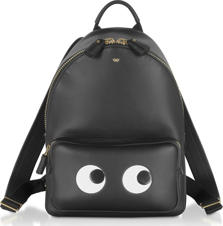 Anya Hindmarch Black Circus Mini Eyes Backpack