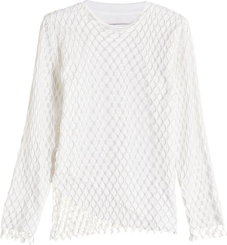 Marques'Almeida Jersey Net Long Sleeve Top