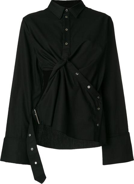 Marques'Almeida Draped cut out blouse