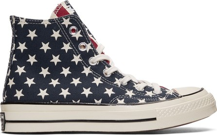 Converse White & Red Chuck 70 Archive Restructured High Top Sneakers
