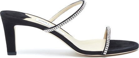Jimmy Choo Brea 65 crystal embellished strap suede heeled sandals