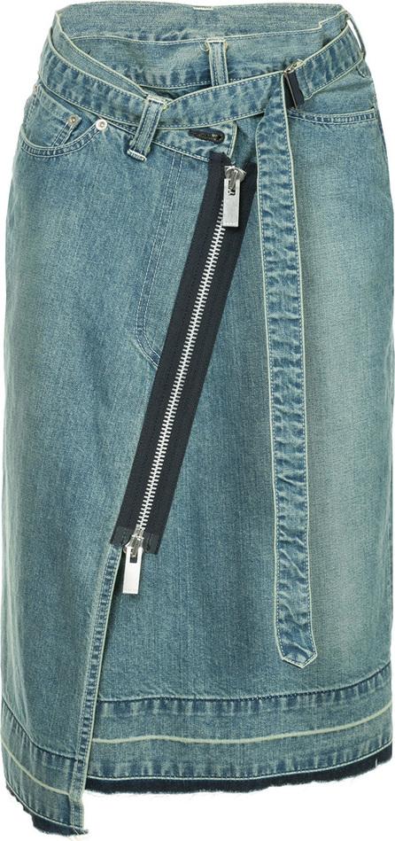 Sacai Asymmetric zipped skirt