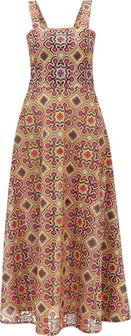 Gioia Bini Lucinda macramé-lace maxi dress