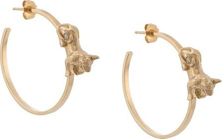 Azlee Anubis diamond hoops