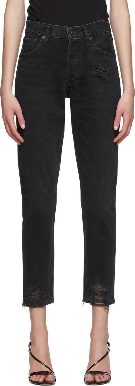 Agolde Black Jamie Hi Rise Classic Jeans