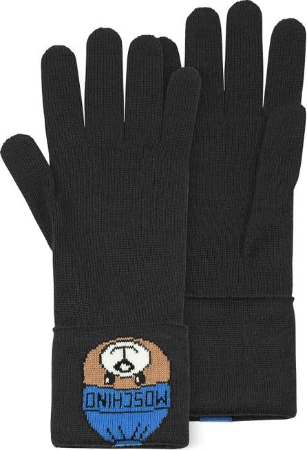 Moschino Black Long Gloves w/ Moschino Toy