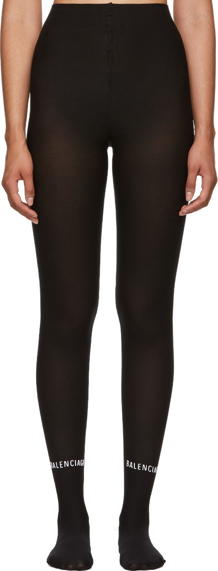 Balenciaga Black Logo Tights