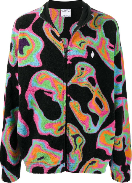 Marcelo Burlon Psychedelic-print fleece jacket
