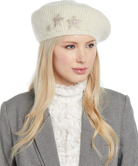 09fe1c661a4ca Jennifer Behr Estrella Mohair-Blend Knit Beret w  Embellished Stars