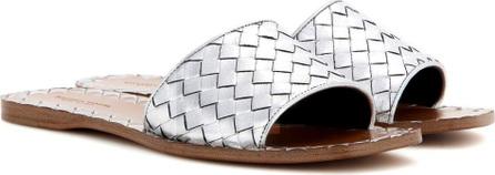 Bottega Veneta Metallic leather slip-on sandals