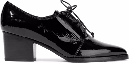 Stuart Weitzman Crinkled patent-leather brogues