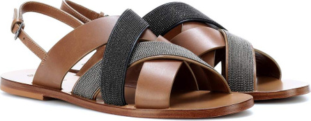 Brunello Cucinelli Monili-beaded leather sandals