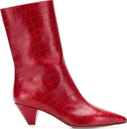 Attico Crocodile effect boots