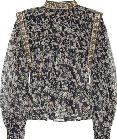 Isabel Marant Etoile Vega floral cotton blouse