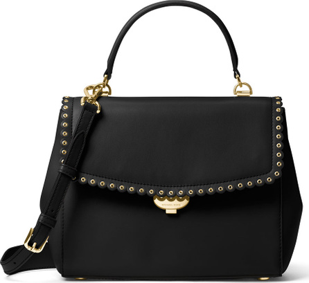 MICHAEL MICHAEL KORS Ava Medium Saffiano Satchel Bag, Black