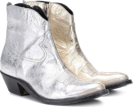 Golden Goose Deluxe Brand Young metallic leather ankle boots