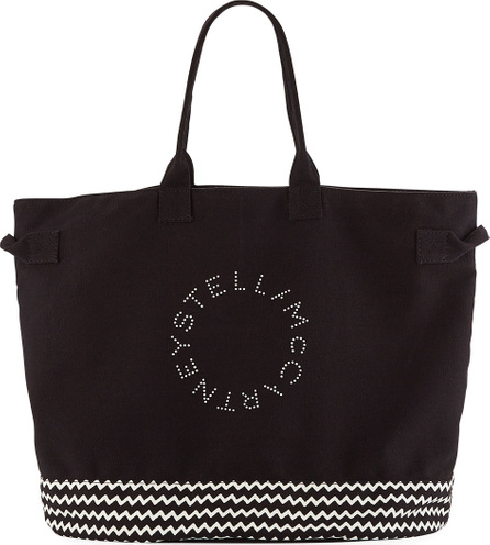 Stella McCartney Striped Logo Beach Tote Bag