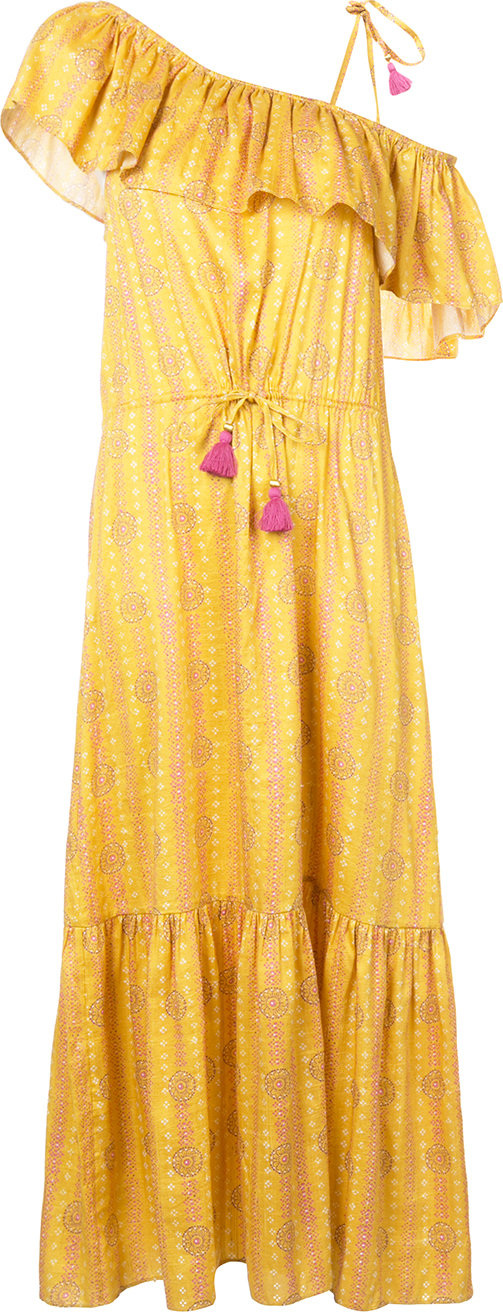 FIGUE - Miguelina mandala-print ruffled maxi dress